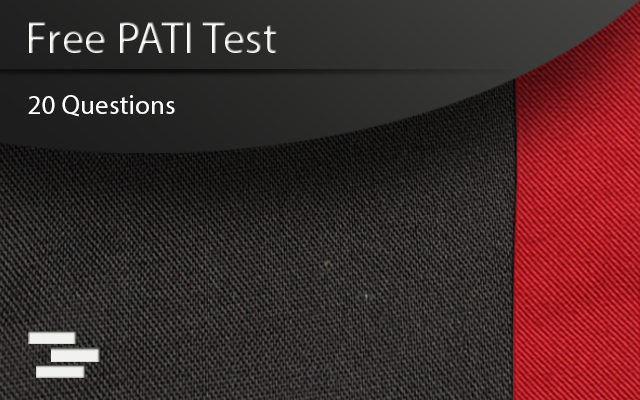 PATI Test course cover