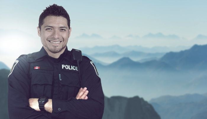 police officer with arms crossed
