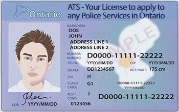 ATS Drivers licence card