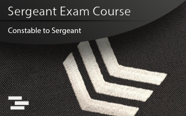 Sgt exam course cover with sgt stripes