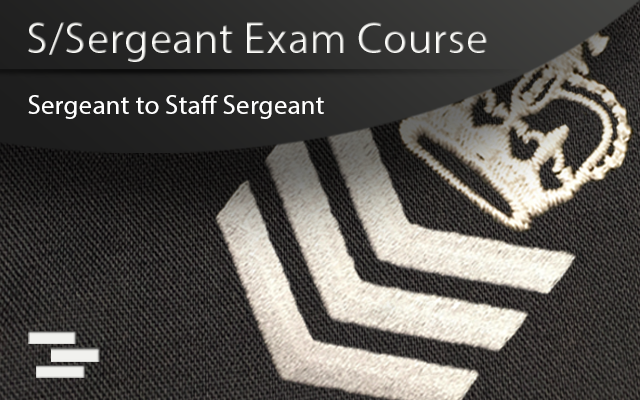 Police promotional staff sergeant course cover