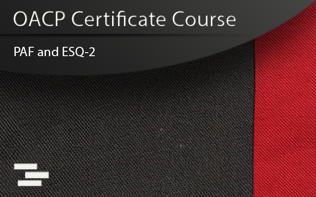 OACP Certtificate course coverpage of police uniform pants and red stripe